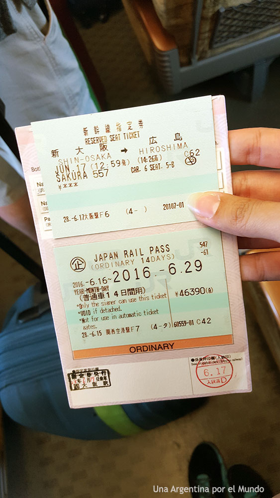 Japan Rail Pass and Reserved Ticket