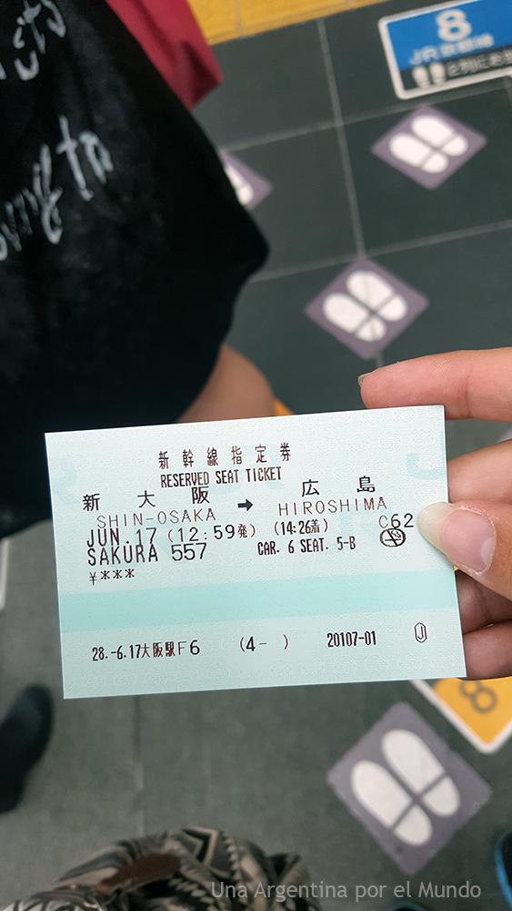 boleto de tren JR Pass shinkansen